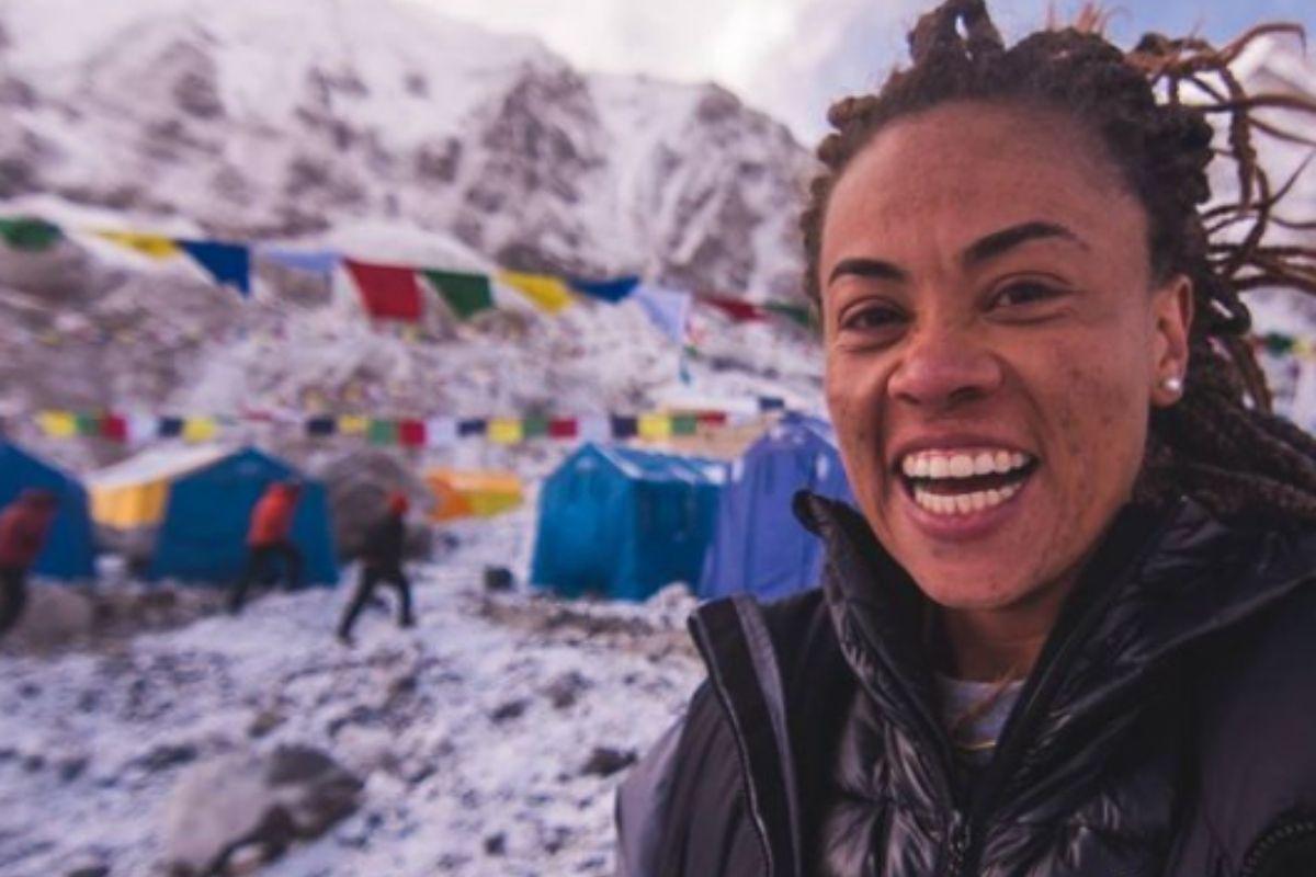 Brasileira é a 1ª negra latino-americana a chegar ao topo do Everest