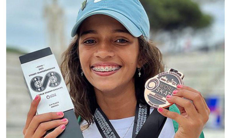 skate:-rayssa-leal,-de-13-anos,-fatura-bronze-no-mundial-de-street
