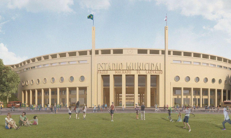obras-no-estadio-do-pacaembu-tem-inicio-com-demolicao-do-toboga