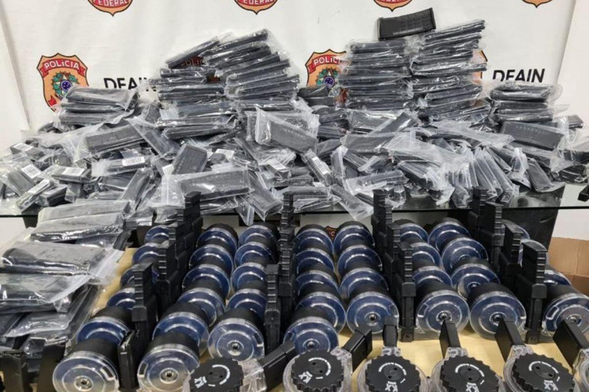 PF faz apreensão de armas e drogas em grande quantidade no Rio