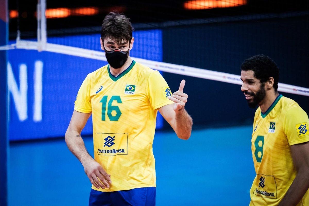 Brasil enfrenta Alemanha pela Liga das Nações de vôlei masculino