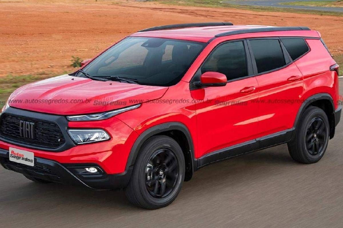 Este seria o Fiat Toro SUV com o tamanho de um Jeep Compass