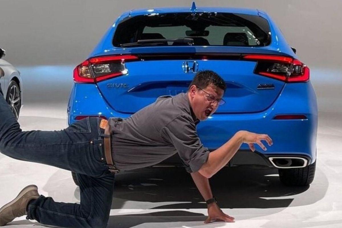 Vazaram imagens do novo Honda Civic hatchback