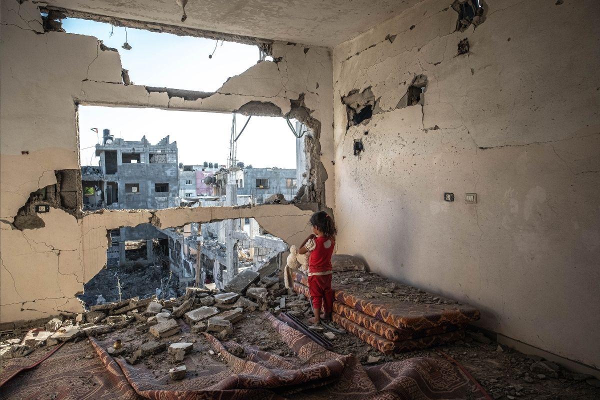 Crianças de Israel e Gaza os dois lados da moeda