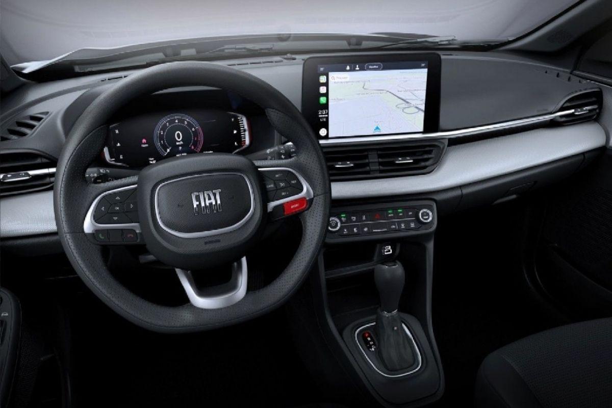 Este é o interior do Pulse, o novo SUV compacto da Fiat