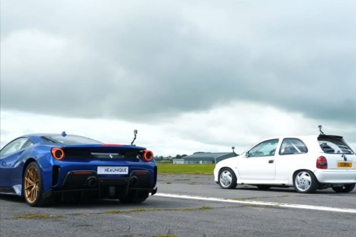 Pode um Chevrolet Corsa vencer uma Ferrari