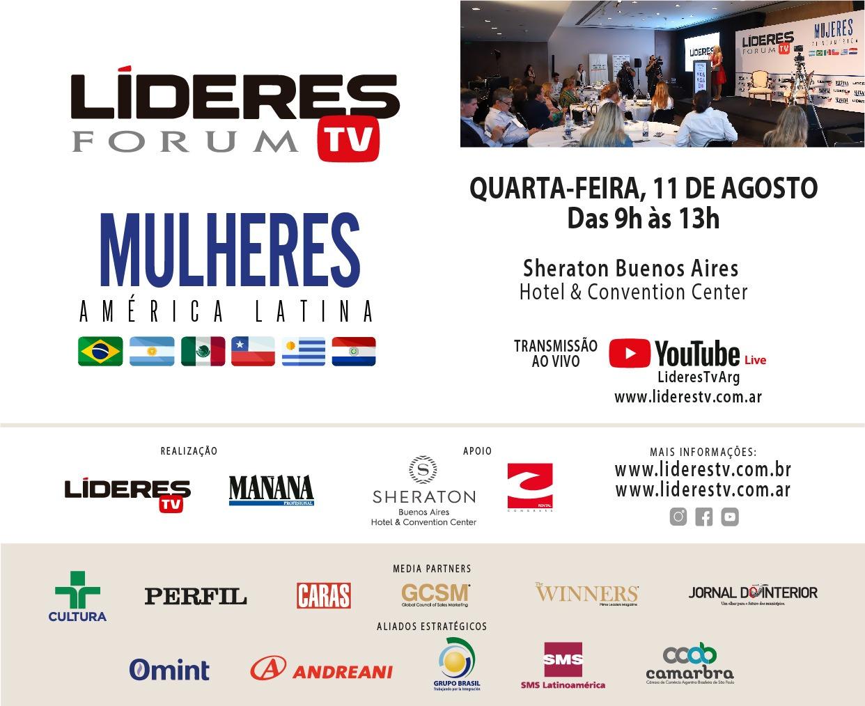 "Segundo Fórum Líderes TV ""MULHERES América Latina"""