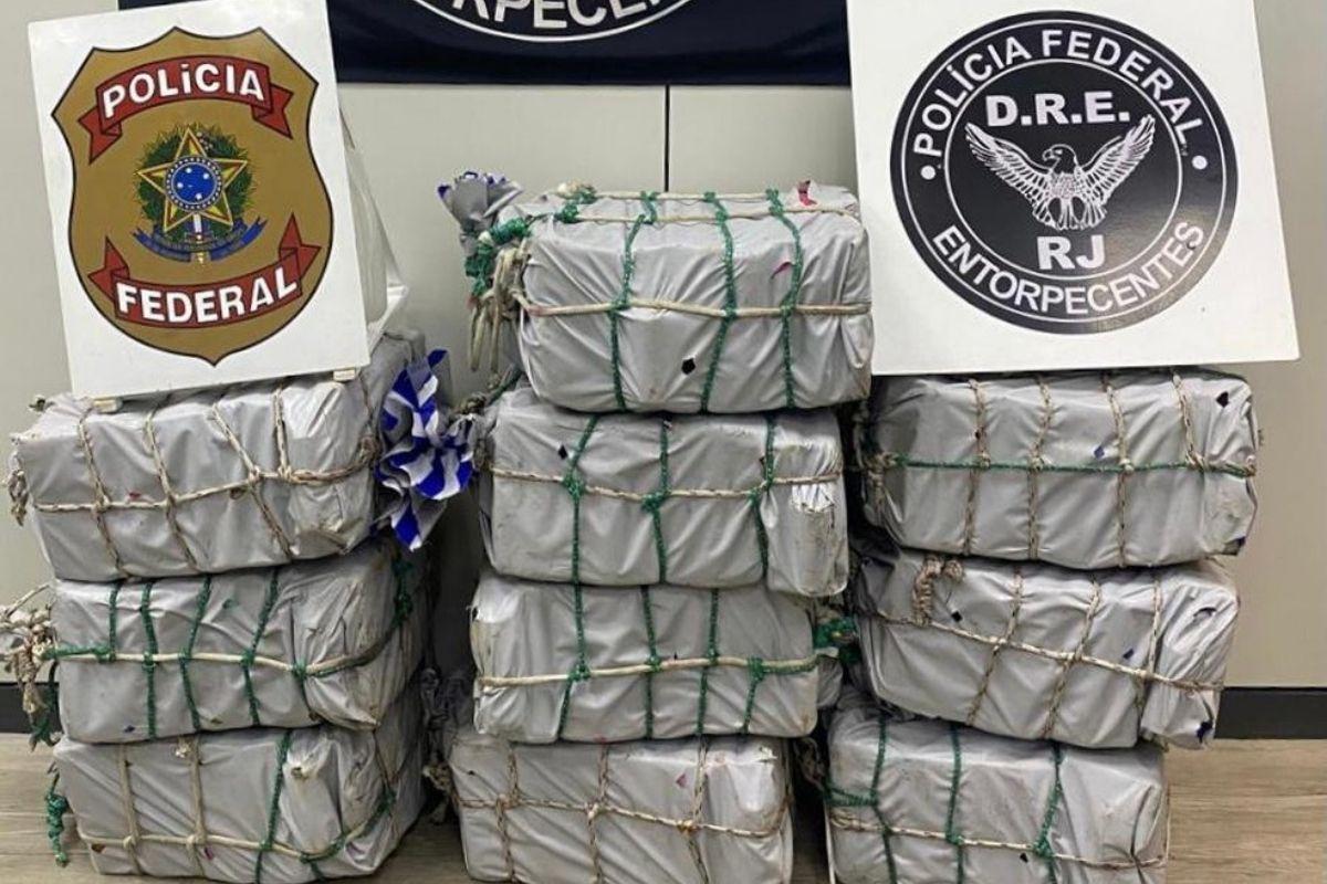 PF apreende no Rio 400 kg de cocaína em navio que iria para Europa