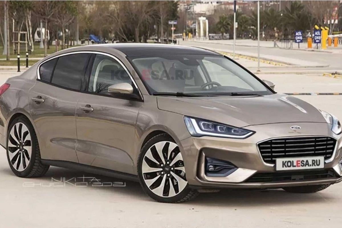 Este seria o novo Ford Focus sedã